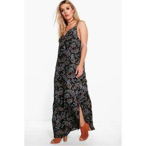 Plus Size Paisley Maxi Dress